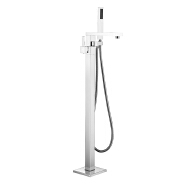 Bathroom Shower Brass Free Standing Floor Tub Faucet with Hand Shower