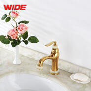 High end gold finish brass water taps for wholesale