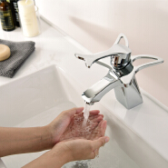 Free shipping butterfly brass bathroom faucet design from WIDE