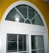 UPVC ARCH WINDOW WITH GRIDS