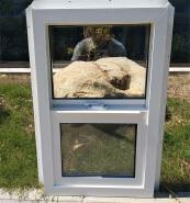 UPVC single hung window
