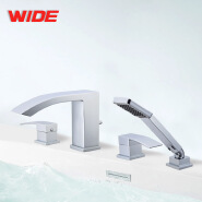 Jiangmen Factory Roman Tub Filler 4 Holes Bathtub Shower Mixer Tap With Handspray