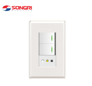 Residential Songri 16A Chilean socket with two switch