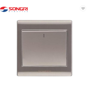 Residential 1 gang 1 way universal luxury light application control switch