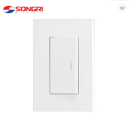 Songri brand hot sale 1 gang 1 way electric wall switch button for home