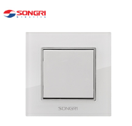 Songri general use white 1 gang 1 way new design wall light switch