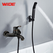Chrome single handle two hole upc bathroom faucet for sale