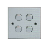 factory low price 4 gang 1 way switch socket electrical littel push button on and off switch