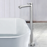 Europe modern floor standing bathtub taps, freestanding bath taps