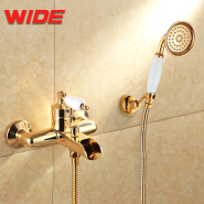 Hot sale brass bathtub faucet modern gold, luxury bath shower faucet