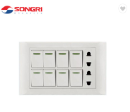 Songri Economic Brass Copper Good Quality Gang Wall Switch