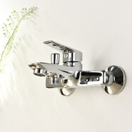 European wall mount bath faucet in brass material