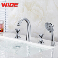 Modern European deck mounted bathroom bath faucet for wholesale