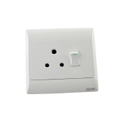South Africa PC +cooper 250V 1gang 3 Pin Plug 16A switched socket 125*125 mm