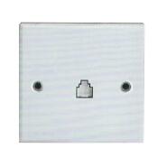 SHARE factory low price White Panel TEL Socket/RJ 11 socket 86*86