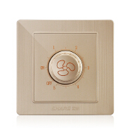 SHARE factory price Champagne Gold hot sale 1 gang regulator speed controller switch 86*86