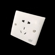 Factory Low Price White Color 5 Pin Socket Flush Mounted 10A 250V