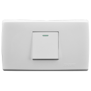 factory price 118 American style white panel push button 1 gang 2 way on off switch 250V 10A