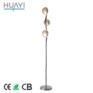 Contemporary Commercial Gold Foil Simple Aluminium Living Room Floor Lamp