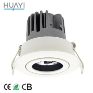 Guangdong Interior Round Aluminium Ip65 Waterproof COB LED Decor Downlight