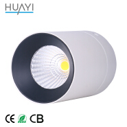 21W Ceiling Mounted White Thin Concave Cylinder Anti Glare LED Downlight