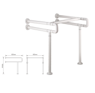 Washroom Steel Grab Bar Toilet