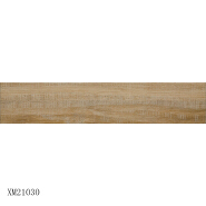 Modern wooden effect brown teak homogeneous wood floor tile