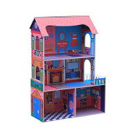 Wholesale Colours Children Wooden Craft Toys Doll House