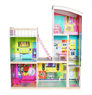 WEIFU multi-level mini furniture new design wooden kids miniature doll house View larger image WEIFU