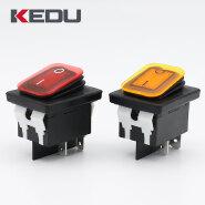 KEDU HY12-15 High Quality 250V 16A IP65 Dustproof Waterproof Rocker Switch With TUV CE