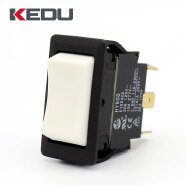 KEDU White Color Button 6 pins (on) off (on) Rocker Switch With UL TUV CE Approval 0DHY6