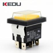 KEDU HY12-9 high quality 2 position 6pins on on momentary rocker switch waterproof switch waterproof