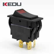 KEDU High Quality Rocker Switch With Red Light Indicator HY60E