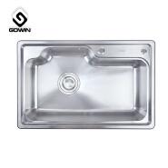 Single bowl pressing stainless steel kitchen sink