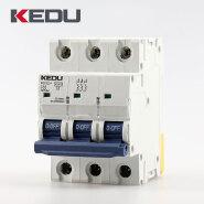 KEDU 32amp 3P MCB Miniature Circuit Breaker With VDE CB CCC CE Certification