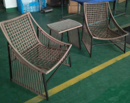 ORIENT SUN Rattan Table & Chair