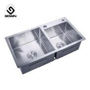 Double bowl SU304 stainless steel kitchen sink