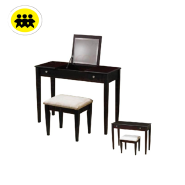 home furniture bedroom wooden cherry foldable vanity dressing table