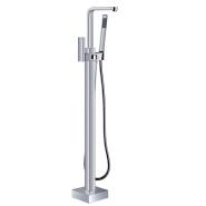 bathtub waterfall spout Tub Mixer Shower Brass Freestanding Tap Floor Free Standing Faucet