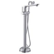 bathtub waterfall spout Brass cupc Floor Free Standing Faucet Tub Mixer Shower Freestanding Tap