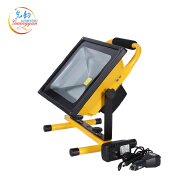 High quality portable outdoor IP65 50W high lumen led rechargeable flood light