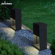 Savia cube Iron&PMMA 220-240V Max.10W E27 IP44 square waterproof outdoor garden lamp led e27 garden