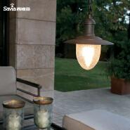 Vintage Style 220V Waterproof Aluminum Outdoor Pendant Lamp
