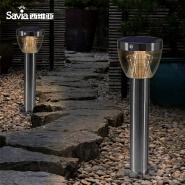 Savia stainless steel solar street outdoor light 8W LED Outdoor IP44 garden column lamp motion senso