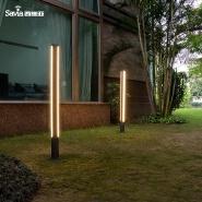 Savia garden lamp Aluminum&PC 100-240V 18W IP44 led lamp outdoor garden bollard light waterproof two