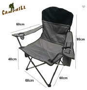 Oversize Collapsible Tailgating Chair Folding Camping Chair with Cup Holder