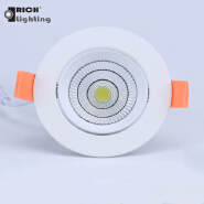 Super bright Round/Square COB Led ceiling downlight 9W Recessed LED Ceiling light Spot Light Lamp