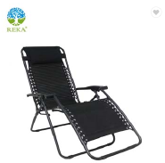 Oversized Zero Gravity Reclining Lounge Folding Chair with Cup Holder