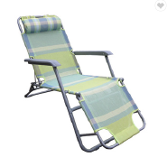 Patio Durable Folding Soft Zero Gravity Chair with Cup Holder