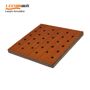 Best acoustic absorption panels grooved wooden acoustic panel for office meeting room and galery